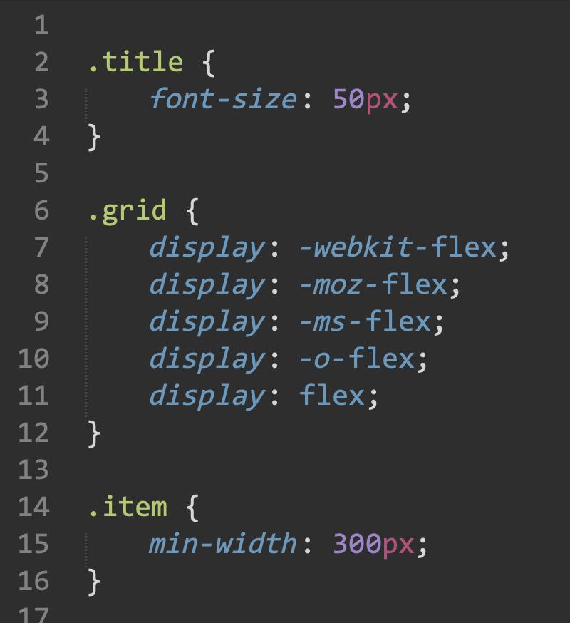 css код этого примера