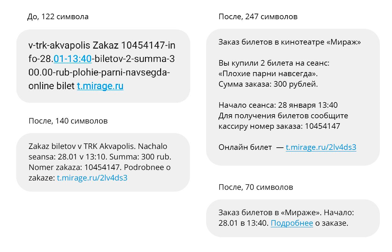 """""""Человечное"""" смс от кинотеатра 8"""