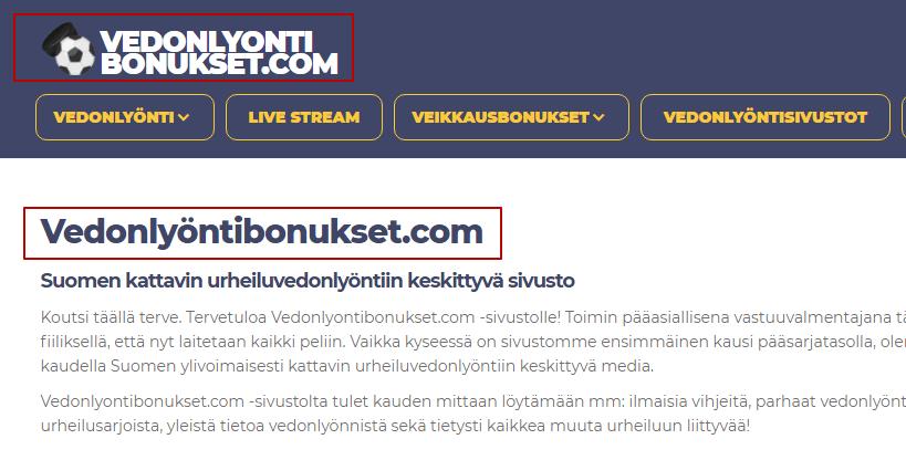 Аудит сайта vedonlyontibonukset.com 5