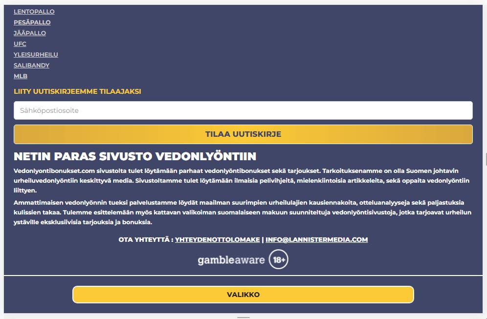 Аудит сайта vedonlyontibonukset.com 24